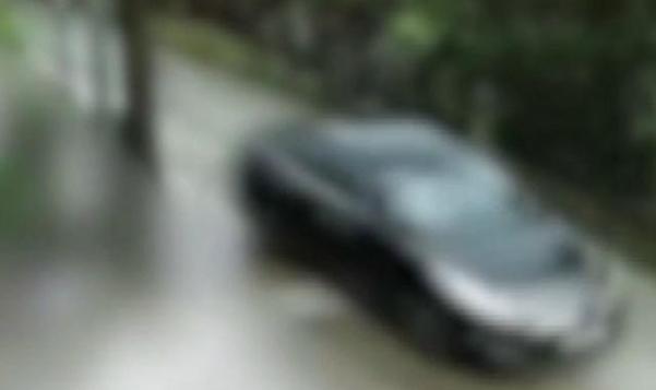 펜션 인근 주택가에 설치된 폐쇄회로(CC)TV 영상에 담긴 피의자 차량. /제주동부경찰서 제공