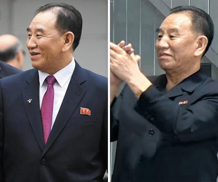 김영철(오른쪽 사진) 전 노동당 통일전선부장은 3일에 이어 4일에도 북한 관영매체에 등장했다.