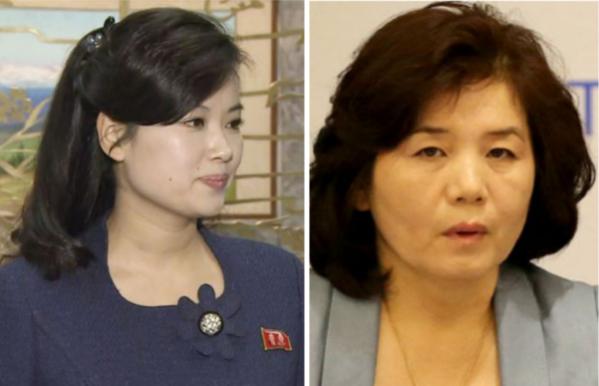 현송월(왼쪽), 최선희(오른쪽) /조선DB