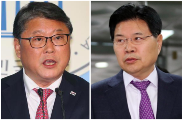 대한애국당 조원진 대표(왼쪽)과 자유한국당 홍문종 의원/조선일보 DB