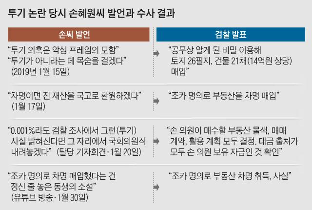 투기 논란 당시 손혜원씨 발언과 수사 결과