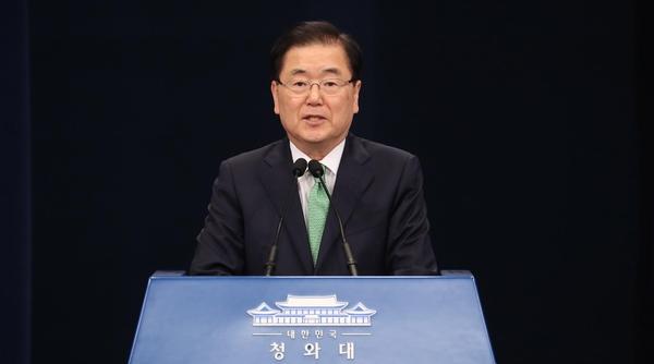 정의용 청와대 국가안보실장 /연합뉴스