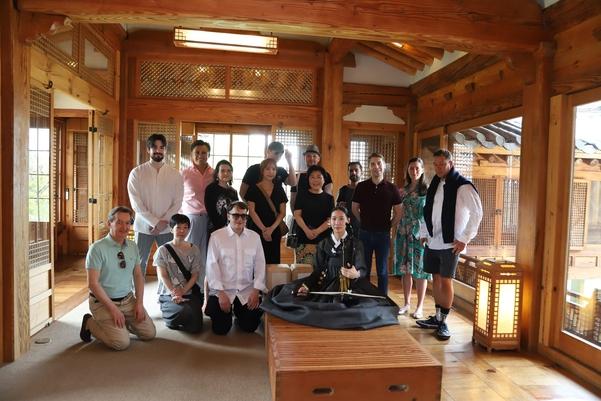 한국가구박물관, CCF 2019 각국 대표들과 김남령 해금 연주자