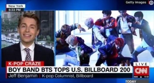 CNN에 등장해 '왜 우리가 BTS를 주목해야 하는가'를 설명하는 제프 벤자민.