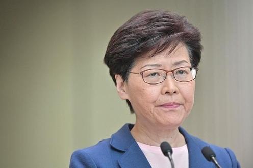 """캐리 람 홍콩 행정장관이 9일 기자회견을 열고 """"송환법은 완전히 죽었다""""며 법안 추진을 재개하지 않겠다고 약속했다. /AFP 연합뉴스"""