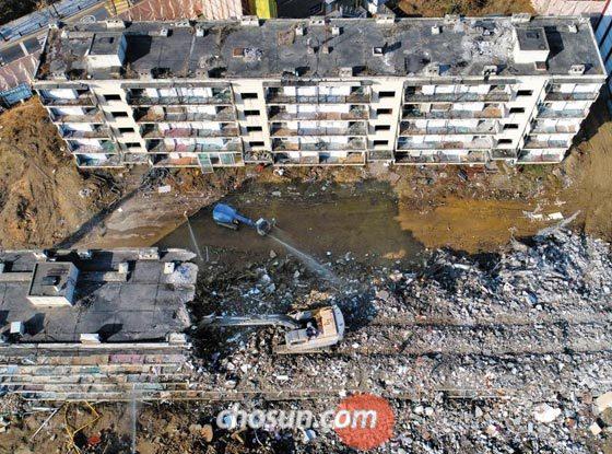 지난해 11월 서울 개포주공 4단지 아파트 철거 현장의 모습.