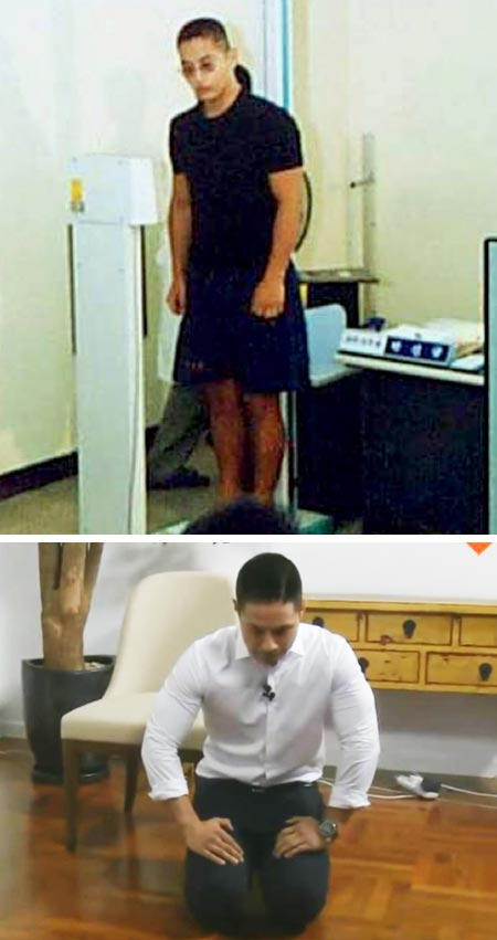 스티브 유(한국명 유승준)가 2001년 8월 대구·경북지방병무청에서 징병 신체검사를 받는 모습(위 사진).