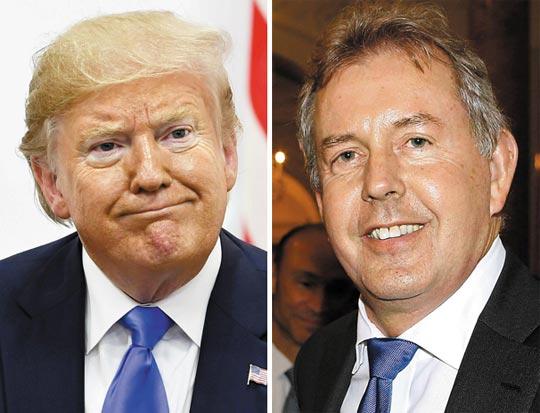 트럼프 대통령(왼쪽), 대럭 대사