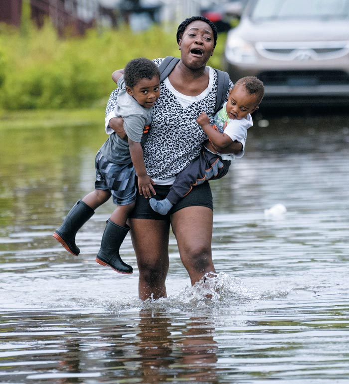 뉴올리언스 '카트리나 악몽'… 3시간 동안 213㎜ 폭우로 비상사태 선포