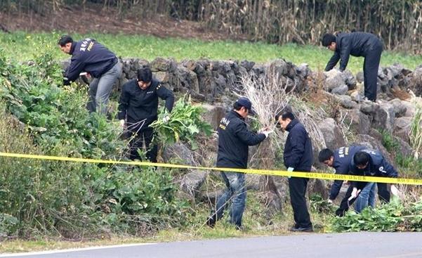지난 2009년 경찰이 제주 보육교사 피살사건 현장 감식을 벌이고 있는 모습. /연합뉴스