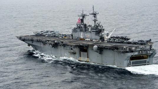미국 해군 강습상륙함인 복서(Boxer)함. /미 해군