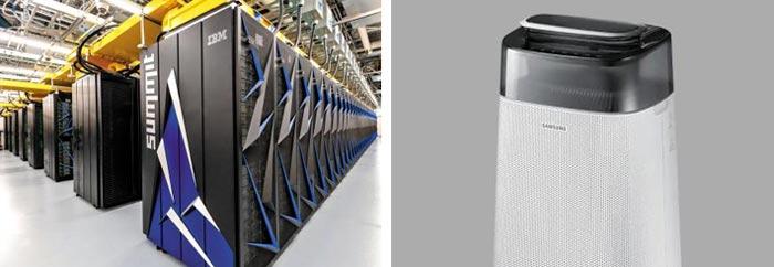 (왼쪽)수퍼컴 개발 주도, (오른쪽)공기청정기의 원조