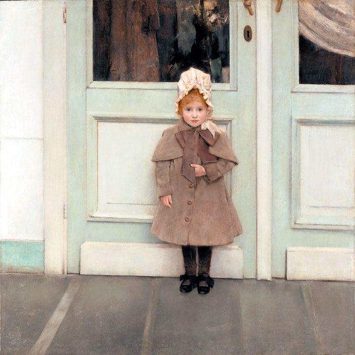 페르낭 크노프, 잔 케퍼의 초상, 1885년, 캔버스에 유채, 80x80㎝, 로스앤젤레스 J. 폴 게티 박물관 소장.
