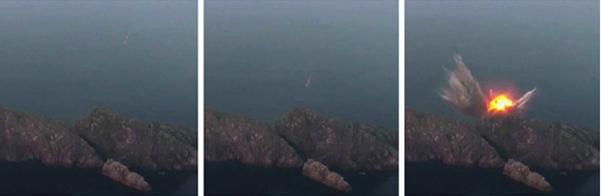김정은 북한 국무위원장이 지난 6일 신형전술유도탄 발사를 참관했다고 조선중앙통신이 7일 보도하며 관련 사진을 공개했다./뉴시스