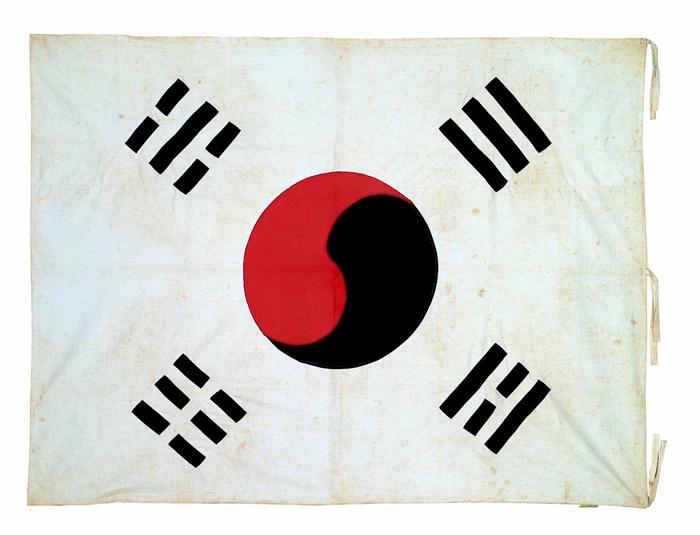 숭실대 한국기독교박물관 소장 3.1독립만세운동 당시 숭실 교정에 게양되었던 태극기