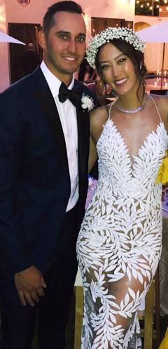 지난 10일 결혼식을 올린 미셸 위와 조니 웨스트.