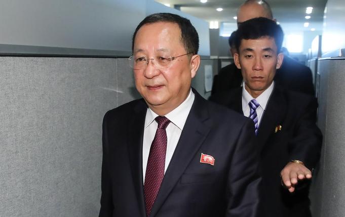 리용호 북한 외무상./연합뉴스
