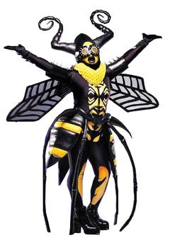 꿀벌 분장을 하고 '더 마스크드 싱어'에 출연한 미국 가수 글래디스 나이트.