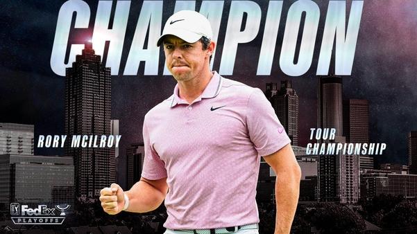 로리 매키로이가 시즌 최종전인 투어 챔피언십 정상에 오르며 페덱스컵 최후의 승자가 됐다./PGA 투어 트위터