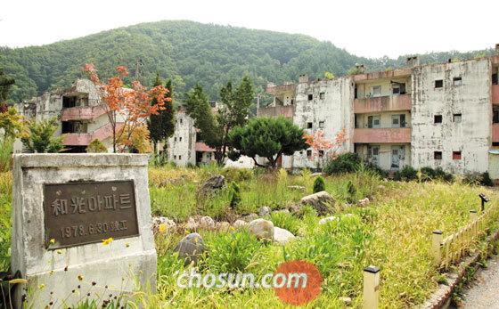 지난 22일 오후 찾은 강원도 태백시 장성동 화광 아파트.