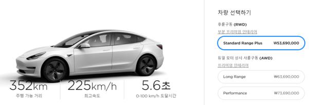 테슬라는 올해 초부터 전기차를 온라인에서만 판매하고 있다. /테슬라 홈페이지 캡처