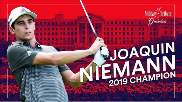 호아킨 니만은 칠레 선수 최초로 PGA 투어 챔피언이 됐다./PGA 투어 트위터