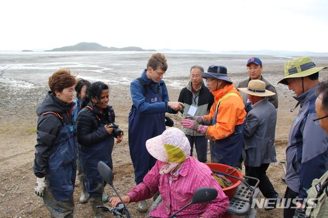 한국의 갯벌  세계자연보전연맹 현지 실사