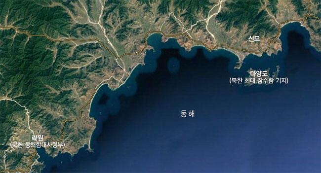 함경남도 신포 인근 지도 photo 구글