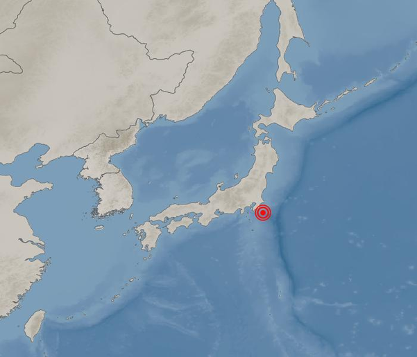 일본 지바현에서 규모 5.7의 지진이 발생했다. /기상청