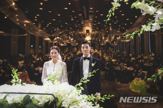 강남 이상화, 결혼식 사진 공개