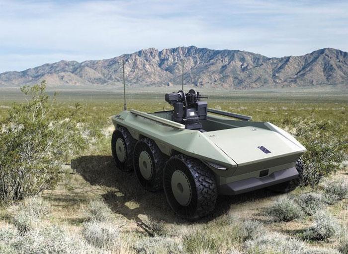 자율주행 능력을 갖춘 전기구동 방식 보병지원용 무인차량 HR-셰르파.