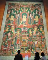 높이 10m·무게 123㎏… 100人이 만든 大佛畵