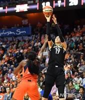 WNBA 박지수 소속팀 라스베이거스, 플레이오프 진출 좌절