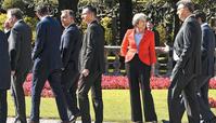EU 정상회의… 홀로 다른 곳 보는 메이 영국 총리