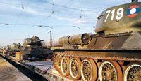러시아, 고물탱크 T-34… 1만5000㎞ 수송 대작전