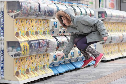 사진작가인 하야시 나쯔미의 공중부양 사진/조선닷컴