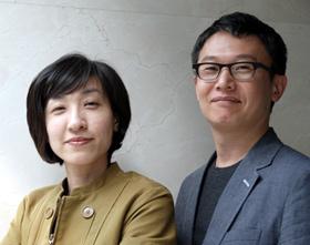 부부 건축가 임영환(오른쪽)·김선현씨.