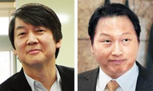 안철수(왼쪽), 최태원. /조선일보DB