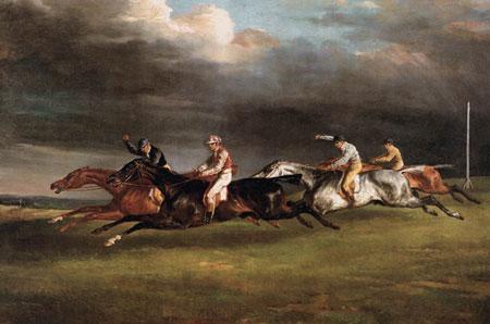 테오도르 제리코 '엡솜 더비 경마장' - 1821년, 캔버스에 유채, 92×122㎝, 파리 루브르박물관 소장.