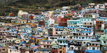 부산시의 산복도로 르네상스 사업 대표 추진지역인 감천문화마을(사하구 감천2동). 올해에는 '아시아 도시경관상'을 수상했다.