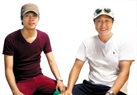 청년 사회적기업팀 '아코아'의 김종흠 대표, 마을기업 인사이트영 안효득 운영위원(왼쪽부터).