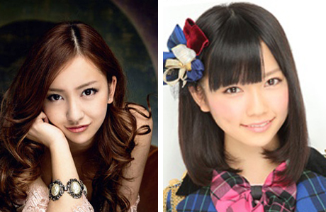 AKB48 멤버 이타노 도모미(왼쪽), 시마자키 하루카 /출처=호리프로·AKB48 공식 홈페이지