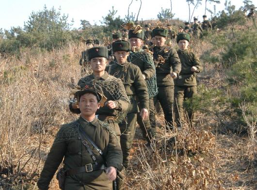 훈련받는 북한군./조선중앙통신