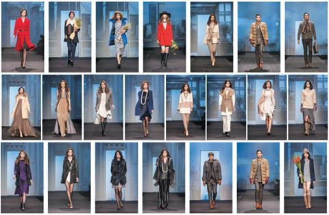 윈터컬렉션 패션쇼에 소개된 디자이너 15명의 작품