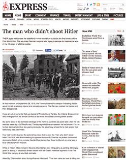 헨리 탠디 스토리를 보도한 지난 1월 18일자 영국 신문 홈페이지.