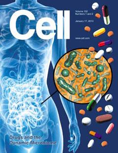 장내 세균을 활용한 신약 개발 연구를 표지 논문으로 소개했다.