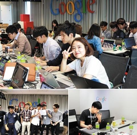 대학생 소프트웨어 개발 동아리 '멋쟁이 사자처럼'이 개최한 해커톤이 서울 역삼동 구글 코리아 사무실에서 열렸다. 참가한 학생들은 2일에 걸쳐 열정적으로 프로그램을 만들었다.