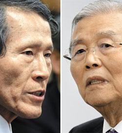 한상진(왼쪽), 김종인.