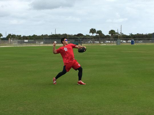미국 플로리다주 주피터에서 훈련 중인 오승환    사진제공=스포츠인텔리전스
