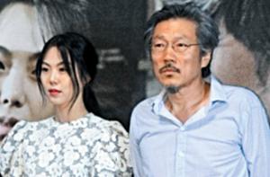 배우 김민희(왼쪽)와 홍상수 감독.
